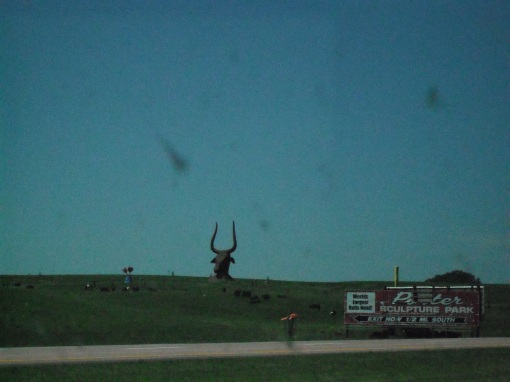 Evil bull that guards the road to the Bad Lands.